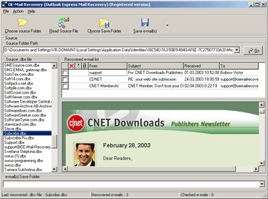 OE-Mail Recovery 1.8.32 screenshot