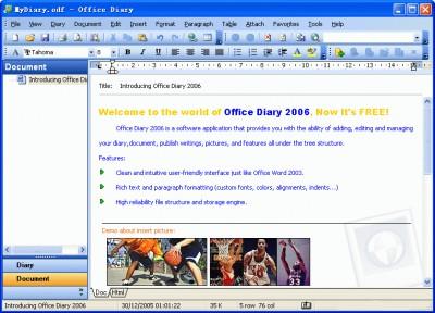 Office Diary 2006 3.25 screenshot
