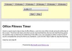 Office Fitness Timer 1.2 screenshot