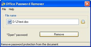 Office Password Remover 2.0 screenshot