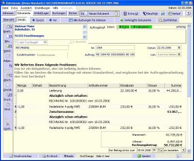 Office-SI Auftragsbearbeitung 6.12524 screenshot
