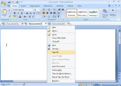 Office Tab 9.20 screenshot