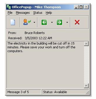 OfficePopup 2.30 screenshot