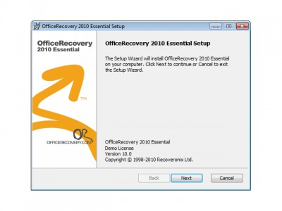 OfficeRecovery Essential 2010.1013 screenshot
