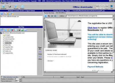 Offline Downloader 3.60 screenshot