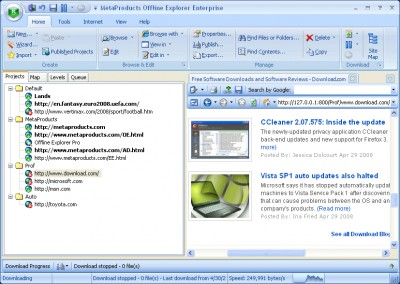 MetaProducts Offline Explorer Enterprise 4.9.2670 Cracked