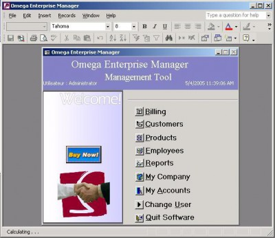 Omega Enterprise Manager 2.1.1 screenshot