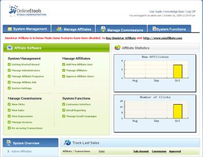 Omnistar Affiliate Marketing Software 5.6 screenshot
