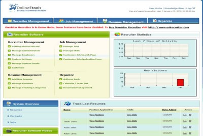 Omnistar Recruiting Software 7.3 screenshot