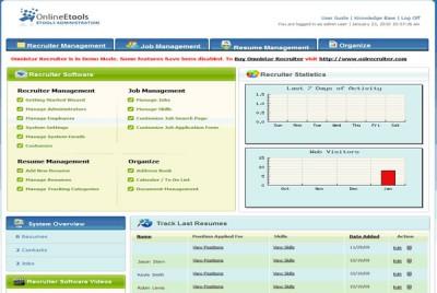 Omnistar Recruiting Software 7.3 screenshot