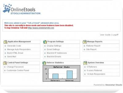 Omnistar Tell a Friend Software 4.1 screenshot