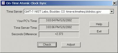 On-Time Atomic Clock Sync 2.0 screenshot