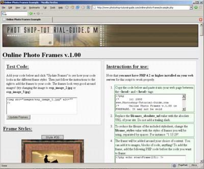 Online Photo Frames 1.01 screenshot