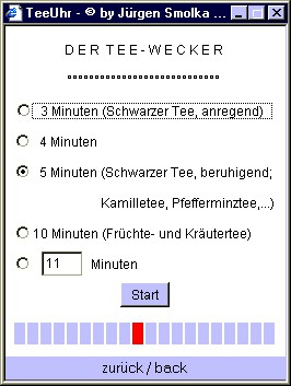 Online Tea Timer / Tee Uhr 1.1 screenshot