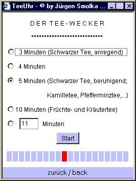 Online TeaTimer / Online TeeUhr 3.2.08 screenshot