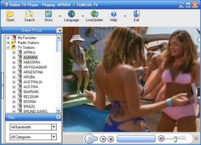 Online TV Player 5.0 screenshot