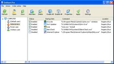 OnStart Pro 1.6 screenshot