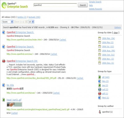 Openfind Enterprise Search 3.0 screenshot