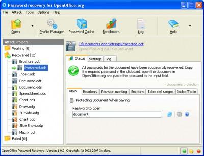 OpenOffice Password Recovery 1.0.6 screenshot