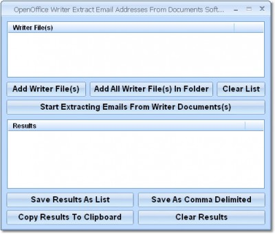 OpenOffice Writer Extract Email Addresses From Doc 7.0 screenshot