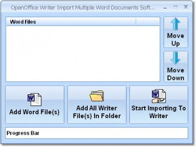 OpenOffice Writer Import Multiple Word Documents S 7.0 screenshot
