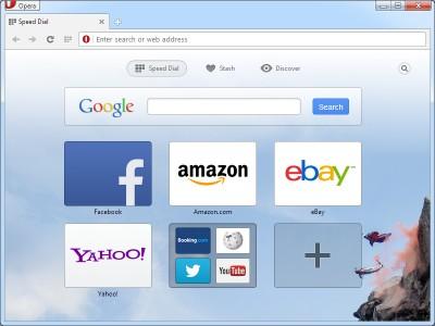 Opera browser 37 screenshot