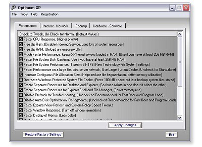 Optimum XP 1.4 screenshot