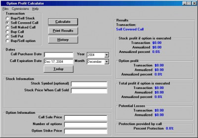 Option Profit Calculator 2.1.0 screenshot