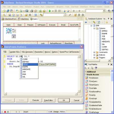 Oracle Data Access Components for Delphi 7 8.00 screenshot
