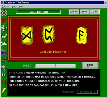 Oracle of the Runes 4.0 screenshot