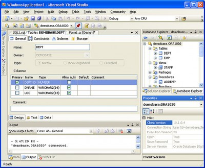 OraDeveloper Tools for VS.NET 2.55 screenshot