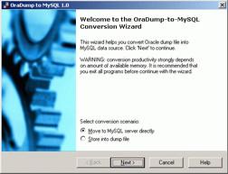 OraDump-to-MySQL 7.1 screenshot