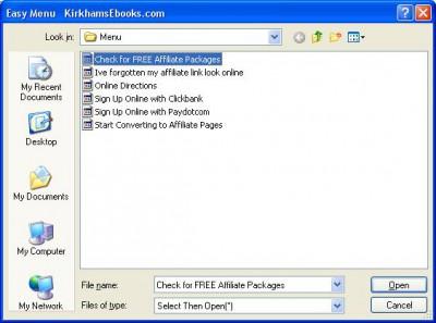 Order to Affiliate Link Changer Freeware 2.1 screenshot
