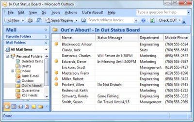 Out n About! for Outlook 3.2 screenshot