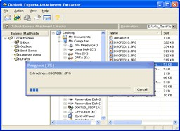 Outlook Express Attachment Extractor 1.62 screenshot