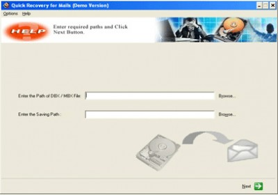 Outlook Express Data Recovery by Unistal 11.09 screenshot