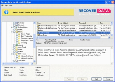Outlook PST Recovery 1.0 screenshot