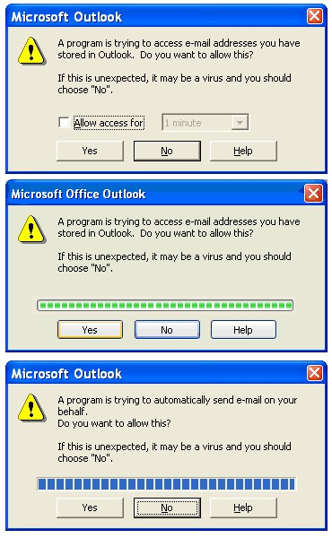 Outlook Security Manager 1.5 screenshot