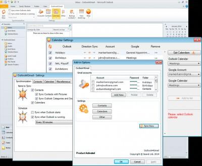 Outlook4Gmail 5.1.3 screenshot