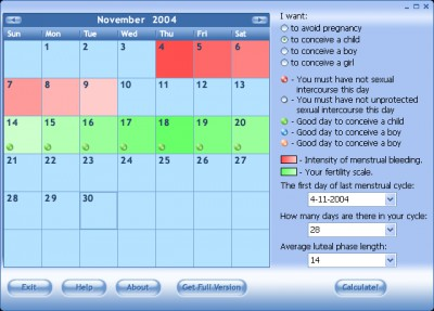 Ovulation Calculator 1.2 screenshot