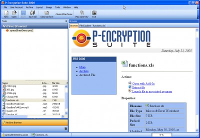 P-Encryption Suite 3.10.3.19 screenshot