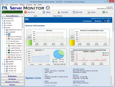 PA Server Monitor Free Edition 5.0 screenshot