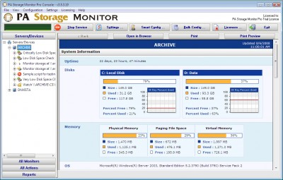 PA Storage Monitor Ultra 5.0 screenshot