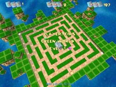Pac-Manic Worlds 3D 1.0 screenshot