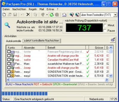 PacSpam Pro 8.3 screenshot