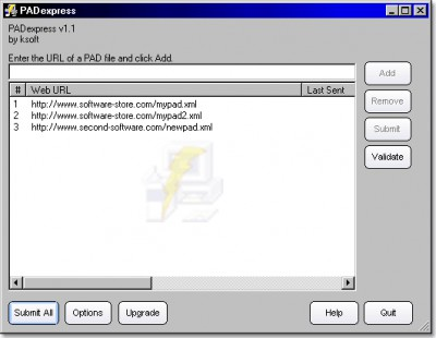 PADexpress 1.53 screenshot