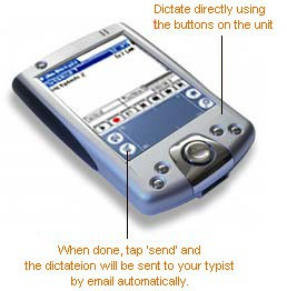 Palm Dictate Dictation Recorder 1.00 screenshot