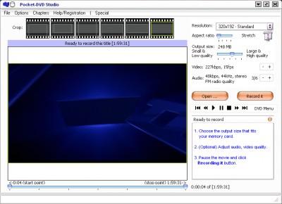 Palm DVD Studio 5.05 screenshot