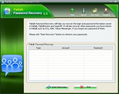 Paltalk Password Recovery 5.20 screenshot
