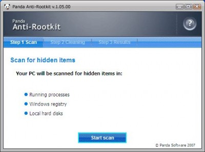 Panda Anti-Rootkit v1.07.00 screenshot
